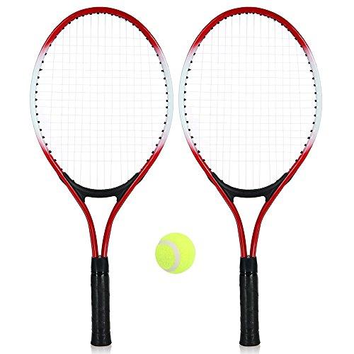Walory Raqueta de Tenis - Raqueta de Tenis de la Raqueta de Tenis de Los Cabritos 2Pcs de Los Niños con 1 Pelota de Tenis Y Bolso de la Cubierta