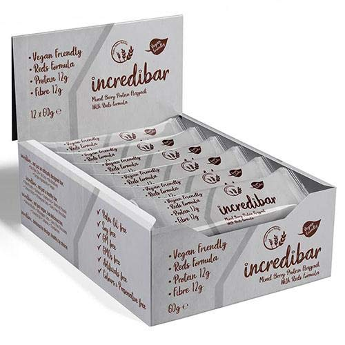 Brother Nature Incredibar 12 x 60g - Vegan Friendly - Soy Free - Great tasting - Palm oil free (Mixed Berry)