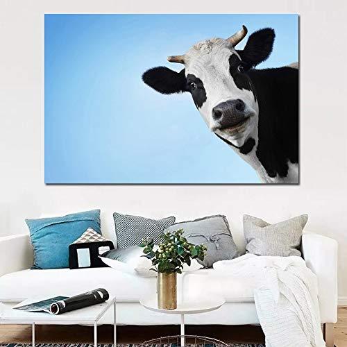 Flduod ART Moderne Animal Wall Art Prints Koe Canvas Schilderijen Woondecoratie Foto's Voor Slaapkamer Loft Living15.7x23.6inch