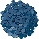 Royal Bingo Supplies 300-pack of Solid Opaque 3/4-inch Bingo Chips, Great for Classroom Counting and Math Activities (Blue)