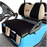 10L0L Golf Cart Seat Blanket Covers for Club Car DS Precedent & Yamaha, Double-Sided Design Breathable Air Mesh & Blanket Washable - Black
