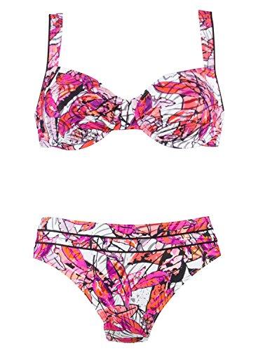 Naturana Bügel Bikini 72477, 40B, weiß-Orchidee-Malve