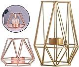 Fiyuer portavela geometrico 2 Pcs candelabros Decorativos de Velas Vintage Decoración...
