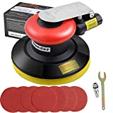 Autolock air Orbital Sander for Compressor Pneumatic,7 Pieces of 125mm Sandpaper + a Frame, for polishing, Sanding Cars, Metals and Wood