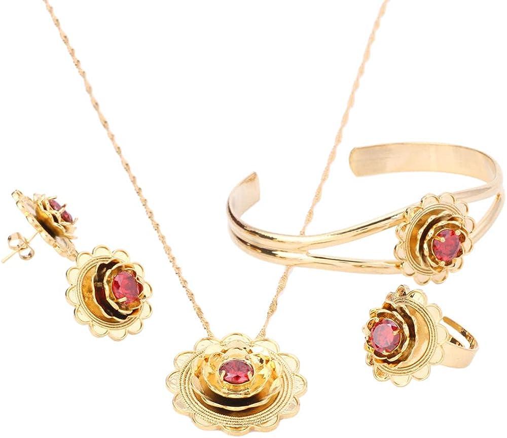 BESI Ethiopian Gold Ranking TOP4 Color Flower Jewelry Pendant Bargain Necklace Trendy