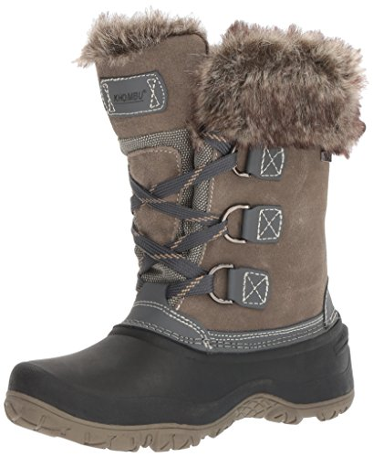 Khombu Womens The Slope Winter Snow Boots (6, Grey)