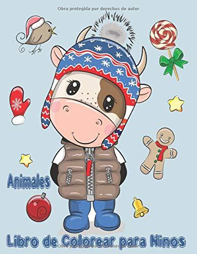 Animales Libro de Colorear para Niños: Libro de colorare para niños y niñas con 100 motivos de animales - Relajantes Libros Para Colorear Para Niños ... Años - hipopótamo,serpiente,conejo,oso,abeja