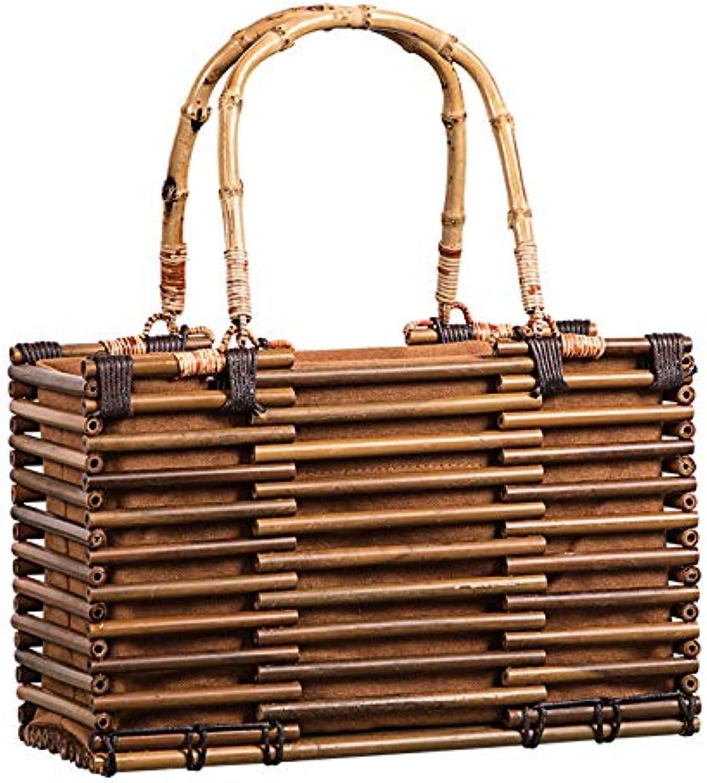 ESTHER mode Bamboo väska kvinnor resa Straw Tote Clutch Tspringaaak Ladies Hand väska Handväskor bspringaaa