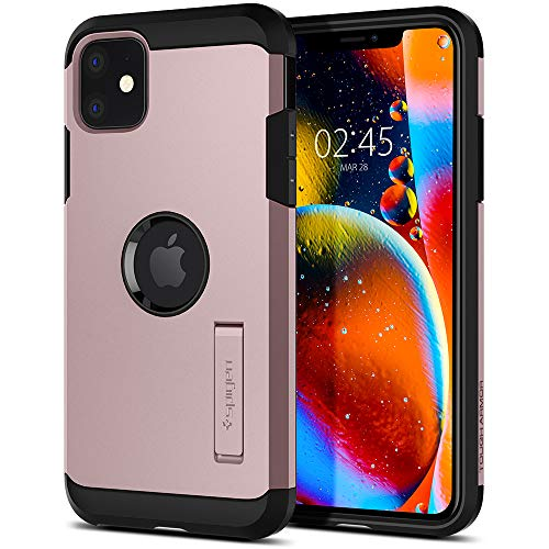 Spigen Tough Armor Hülle Kompatibel mit iPhone 11 -Rose Gold