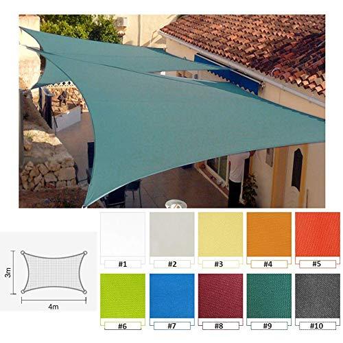 PLEASUR partij zonnebrandcrème luifel rechthoek zon schaduw zeil luifel, Anti-Sunscreen luifel voor Outdoor Yard Party, PU 3x4m 160g/m², 10 kleuren
