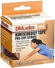 Mueller Sports Medicine Kinesiology Tape Pre-Cut Strips, Beige, 20 Strips (2