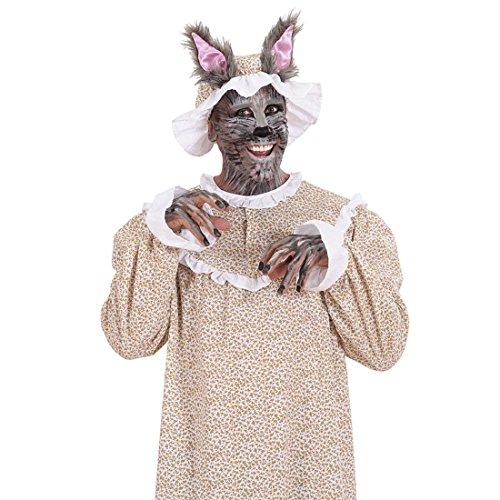 Disfraz de Caperucita Roja, disfraz de abuela, talla XL 54, disfraz de abuelo y lobo, disfraz de carnaval para hombre, disfraz de lobo, disfraz de Caperucita Roja, vestido y gorro