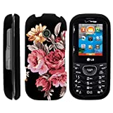 MINITURTLE Compatible with LG Cosmos 3 Case, Slim Fit Snap On Cover w/Unique, Customized Design Autumn Flowers