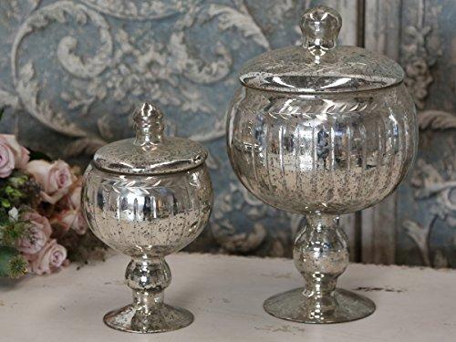 Chic Antique ° Schale ° Pokal ° BOWLE MIT Deckel° ANTIK Silber KLEIN