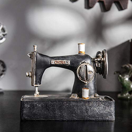 Bedom wallpaper Modelo de máquina de coser de resina anticuada, ventana de tienda de ropa de cafetería, decoración de artesanía retro