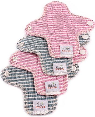 Moon Pads Mini waschbare Slipeinlage aus Bio-Baumwolle 4er-Set stripes