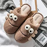Nwarmsouth Slippers Unisex-Adulto,Lindos Zapatos cálidos de algodón, Pantuflas de Felpa Antideslizantes-marrón_41-42,Zapatos cálidos acogedores de la casa