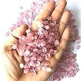 NLLeZ 100g 8-12mm Naturale Rosa Ghiaia di Cristallo Rosa al Quarzo di Cristallo di Cristallo Pietra Ghiaia Pietra Patatine Fritte di Roccia Lucky guarigione Pietre Naturali e minerali
