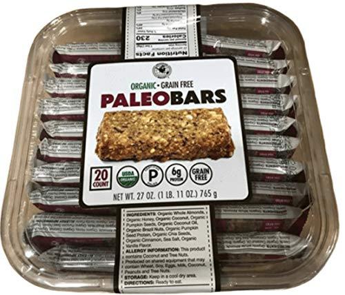 Organic Grain Free PALEO BARS (20 Bars)