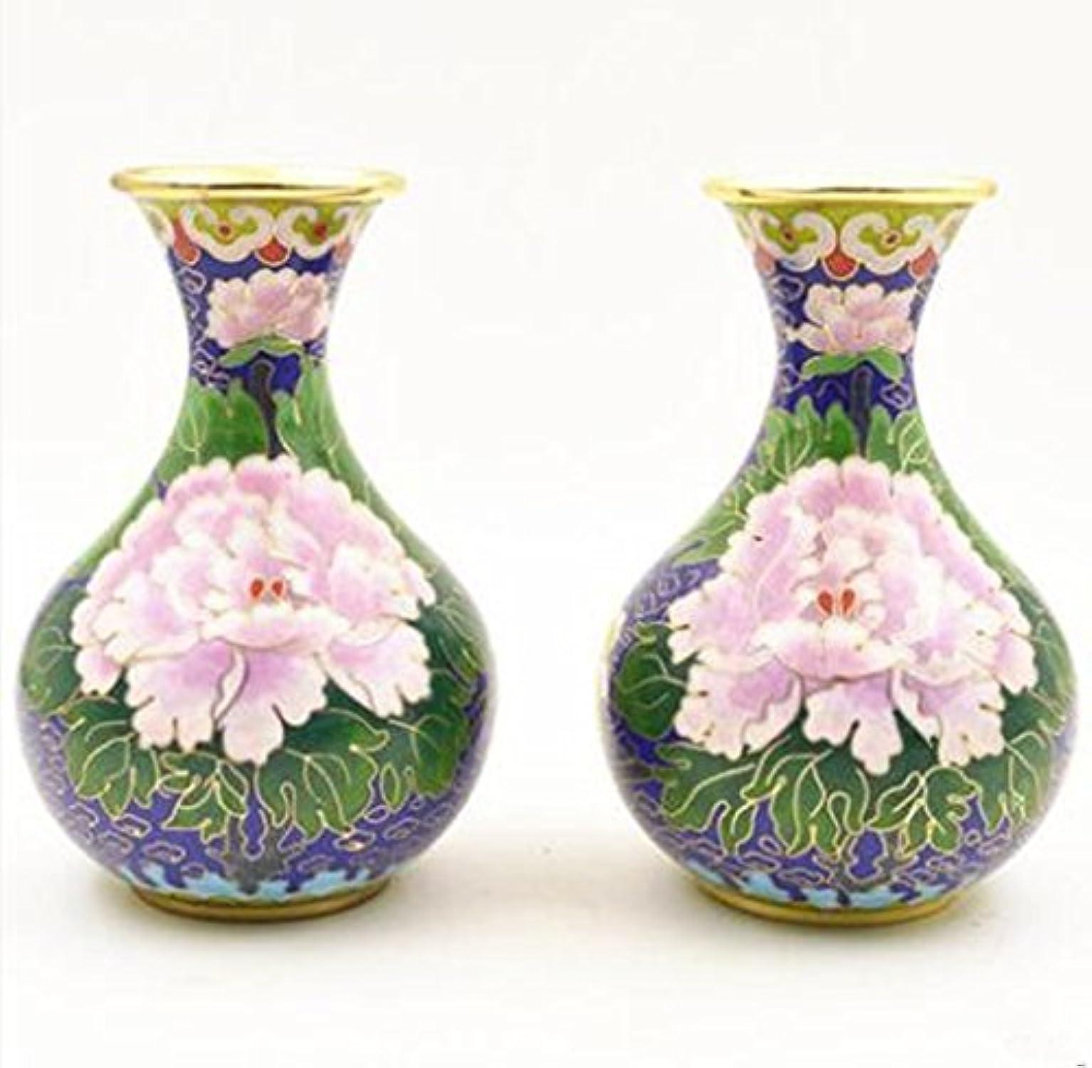 Tchp Pure fabriqué à la Main en cuivre Foetale en Filigrane en émail Vase Décorations