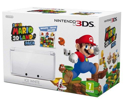 Nintendo 3DS - Console, Bianco Ghiaccio con Super Mario 3D Land [Bundle]