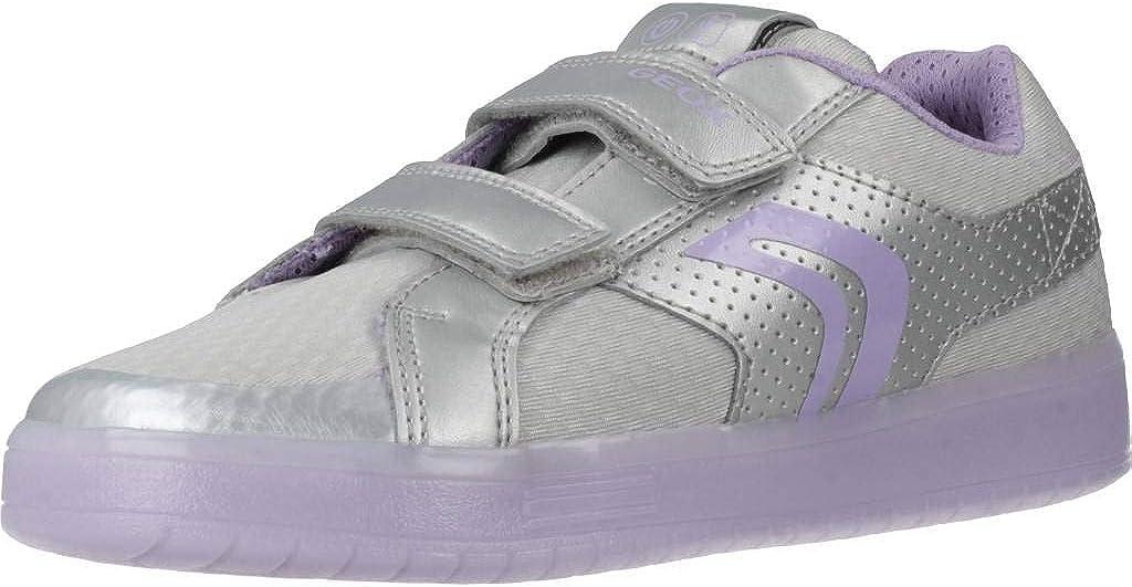 Geox Unisex-Child Kommodor Girl 8 Light Up Velcro Sneaker