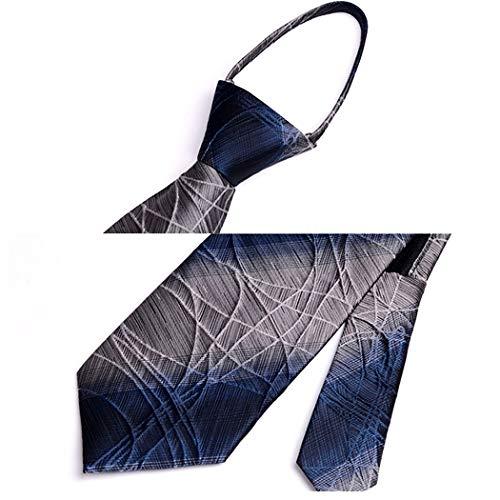 HONGNA - Corbata con Cierre para Hombre, diseño Formal de Tres ...