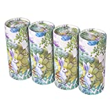 Facial Tissue RONGCHUANG 4 Packs, 120 Count Tissues Per Tube Portable Cylinder Box Roll for Office Car Home,Plants