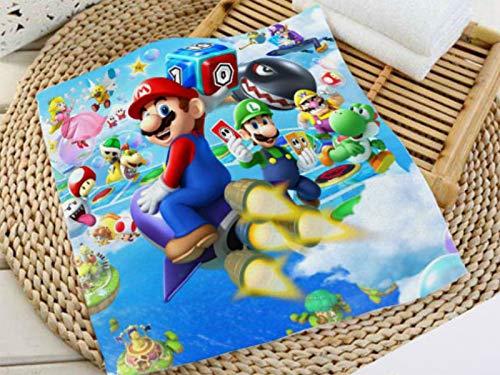 MIAOGOU Super Mario Bros Toallas Personalizadas Super Mario Bros Impresión Toallas Cuadradas Microfibra Absorbente Secar Toallas De Baño Toallas Paño