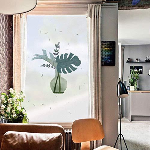 ZKAMANG Topfpflanze Statisch Mattierter Fensterglasaufkleber, Sichtschutzfolie, wasserdichte Glasfolie 60X90Cm B