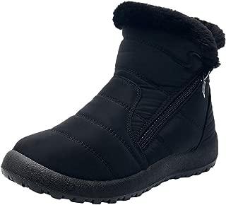 Women's Plus Velvet Thick Waterproof Warm Short Snow Boots Winter Ankle Short Bootie