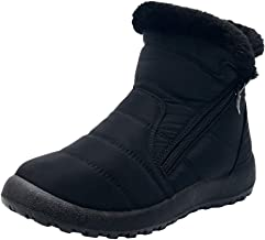 JUSTWIN Women's Plus Velvet Thick Waterproof Warm Short Snow Boots Winter Ankle Short Bootie