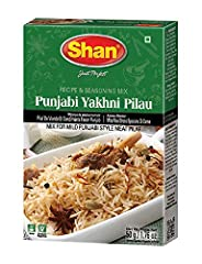 Quantity- Shan Punjabi Yakhni Pilau Recipe and Seasoning Mix comes packaged and sealed in a box containing a packet of 50g of spices. Easy to use- All the ingredients and instructions are given at the back of the box. Easy to prepare- Now you don't n...