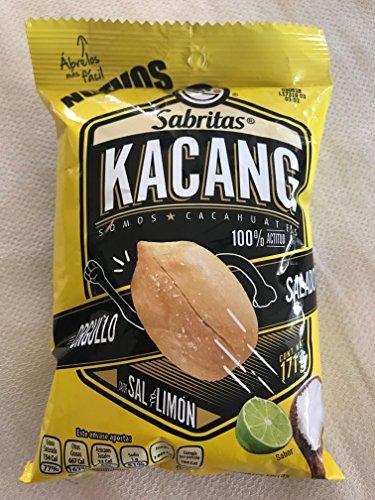 Sabritas Salt and Lime Cacahuates Peanuts (171g) Kacang New Bag 3-pack