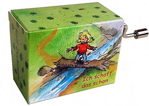 Mini-Drehorgel-Rolf Zuckowski-Spieluhr mit Resonanzboden (Ich schaff das schon)