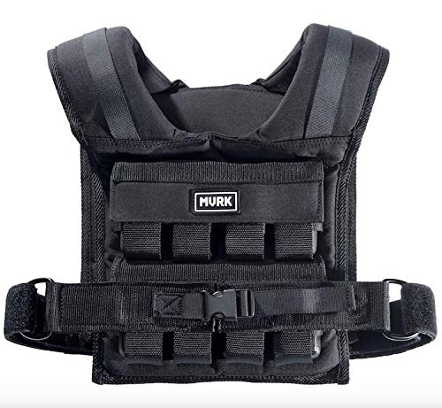 MVRK Adjustable Weighted Vest Men 35lbs - Weighted Workout Vest with Iron Weights, Heavy Duty Weighted Exercise Vest for Functional Training, Slim Design Weighted Running Vest, Weight Vest Women