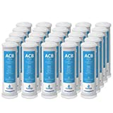 Express Water  25 Pack Activated Carbon Block ACB Water Filter Replacement  5 Micron, 10 inch Filter  Under Sink and Reverse Osmosis System