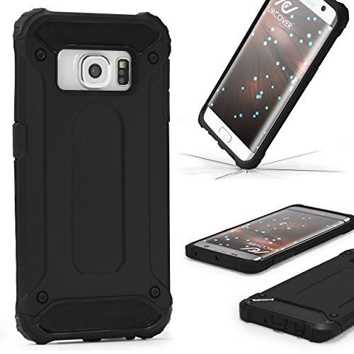 Urcover® Steel Hybrid Schutzhülle kompatibel mit LG V10 Hülle | Kunststoff in Schwarz | Zuberhör Tasche Hülle Handy-Cover