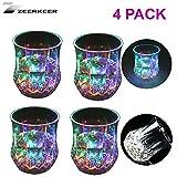 Zeerkeer Farbwechsler Trinkglas Gläser mit LED 5 LED Leuchten Acryl Plexiglas Nicht zerbrechlich...