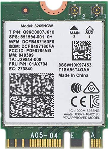 Dual Band Wireless- AC 8265 8265AC NGFF WiFi Card 8265 AC AC8265 8265NGW M.2 NGFF 2.4/5GHz Bluetooth 4.2 Wireless WiFi Card 867 Mbps