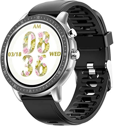 Reloj Inteligente Mujeres 1.3 Pantalla Redonda Completa Ritmo Cardíaco Fitness Tracker DIY Reloj Cara Smartwatch Hombres Banda Inteligente