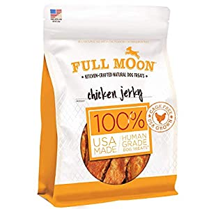 Full Moon Chicken Jerky Healthy All Natural Dog Treats Human Grade Made in USA Grain Free 24 oz