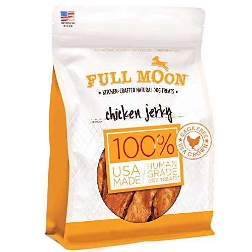 Full Moon Chicken Jerky Healthy All Natural Dog Treats Human Grade Made in USA Grain Free 6 oz