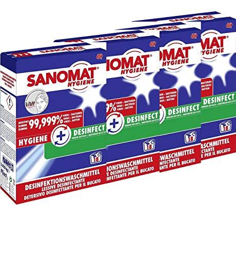 Desinfektionswaschmittel Sanomat Hygiene VAH und RKI gelistet, DGHM zertifiziert, 8,1 kg (4 x 2,025 kg)