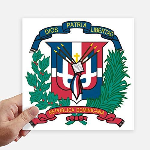 DIYthinker República Dominicana del Emblema Nacional del país Pegatinas cuadradas de 20 cm Pared Maleta portátil Motobike Decal 4 Piezas 20cm x 20cm