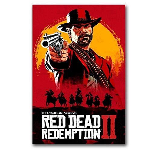 Red Dead Redemption Poster Wall Art Wandbild Malerei Home Decor Wandmalerei, Leinwand (Color : 1, Size (Inch) : 40X60cm no frame)