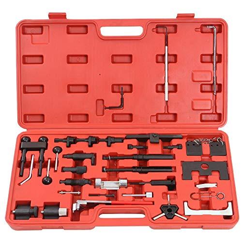 Aufun Zahnriemen Werkzeug Satz Motoreinstell Arretierwerkzeug Aus Robustem Carbonstahl Motor-Einstellwerkzeug im Werkzeugkoffer