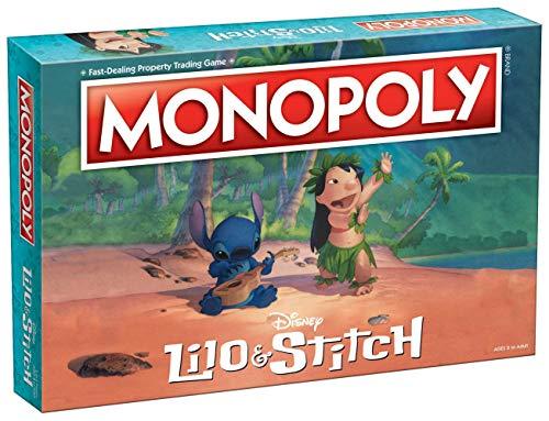 Juego de mesa Monopoly Disney Lilo & Stitch | Basado en la película animada de Lilo y Stitch de Disney, juego de mesa Monopoly coleccionable