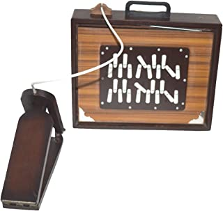 New Shruti Box, Large 16x13x3 Inches, Sur Peti Surpeti, With Bag, Natural Color, Musical Instrument by Nasir Ali