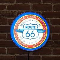 壁掛けランプ ガレージに、お部屋のアクセントに 人気の ラウンドウォールランプ ROUTE66